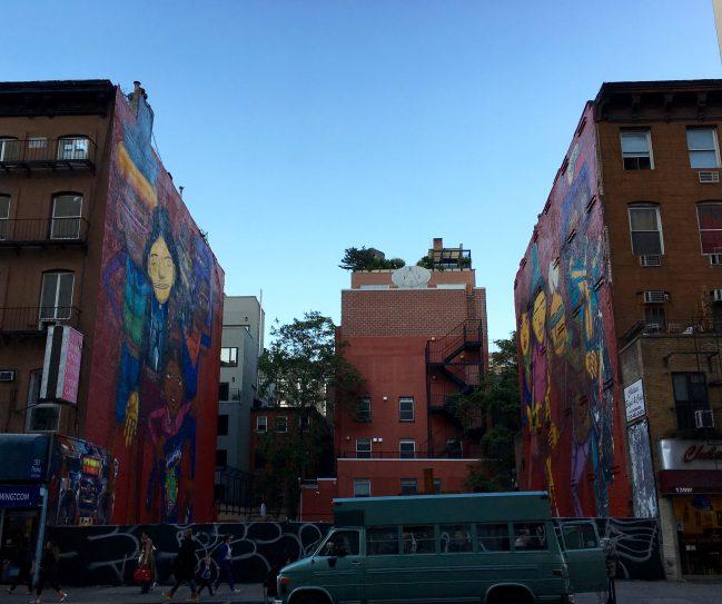 Os Gemeos Mural Dual View