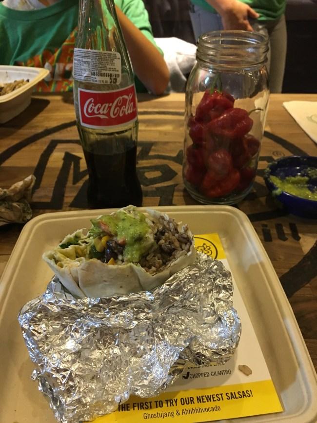 Burrito with Coke