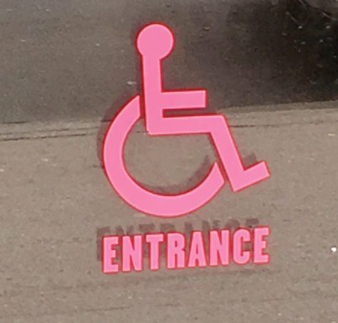Pink Handicapped Accessible Sign