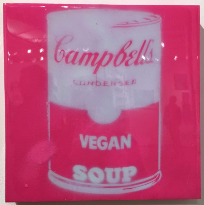 Campbell's Soup ALA Warhol (Pink and White)