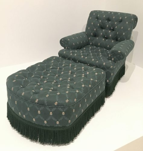 Grant Wood Lounge Chair and Ottoman