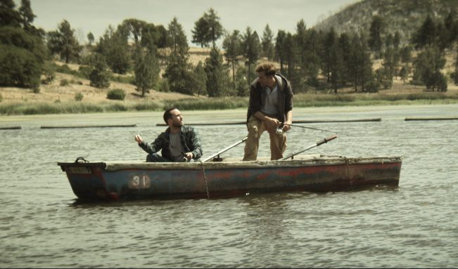 Justin and Aaron in Boat