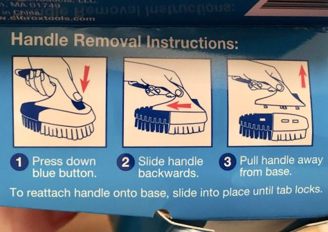 Scrub Brush Handle Removal Detail