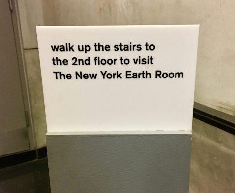 NY Earth Room Sign