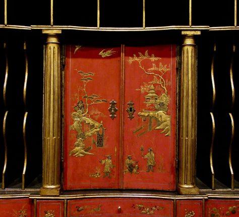 Japanned Cabinet Detail 1