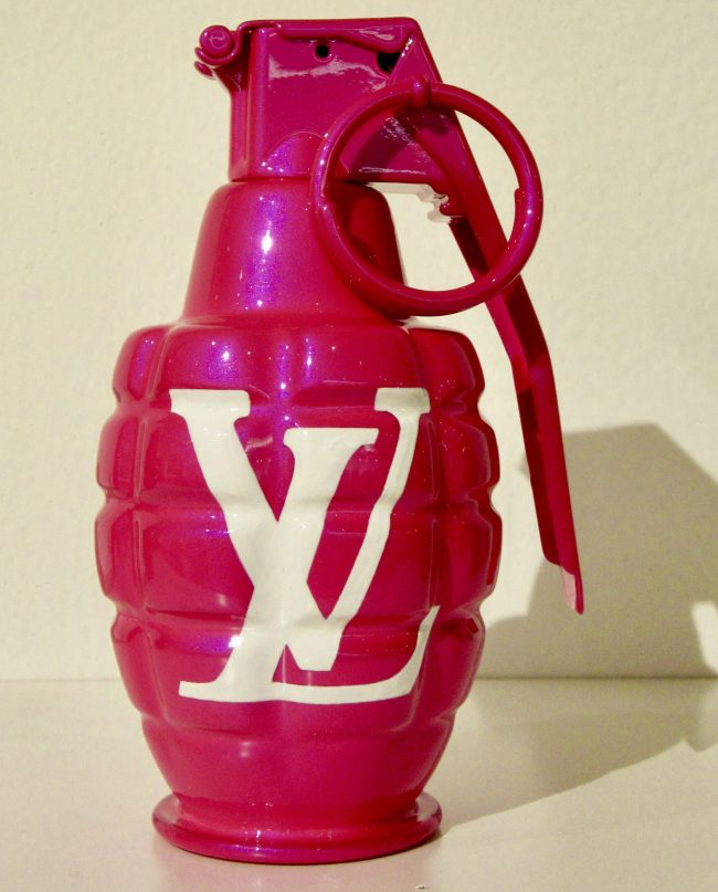 Pink LV Hand Grenade