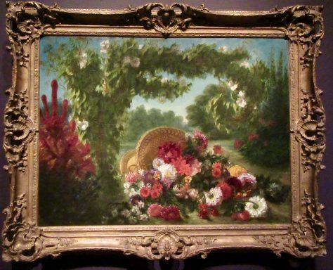 Delacroix Basket of Flowers