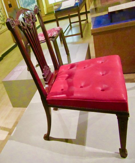Chippendale Side Chair Seat Detail