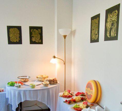 Spread of Jarlsberg Cheese Room View