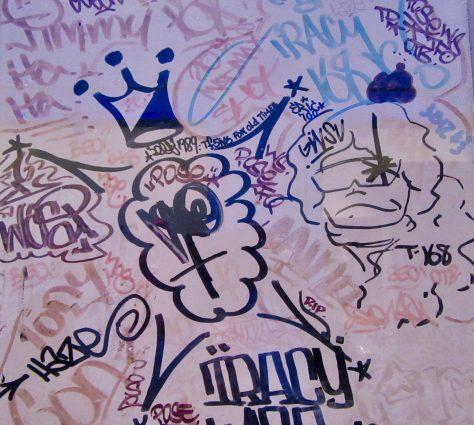 Stewart Studio Graffiti Door Detail