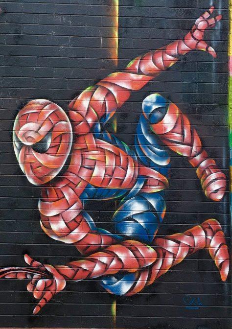 Spiderman Mural Detail