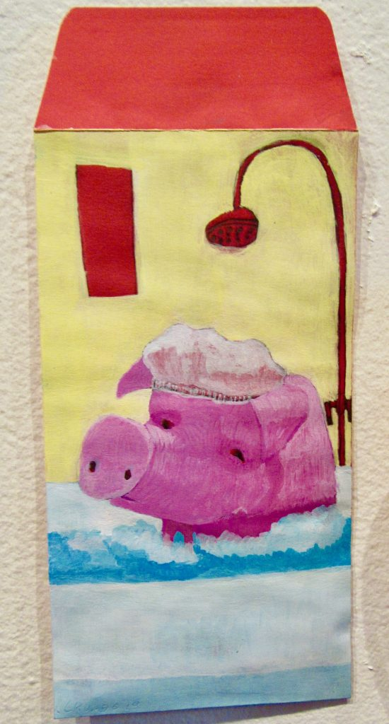 Showering Pig By Cameron Cundiff