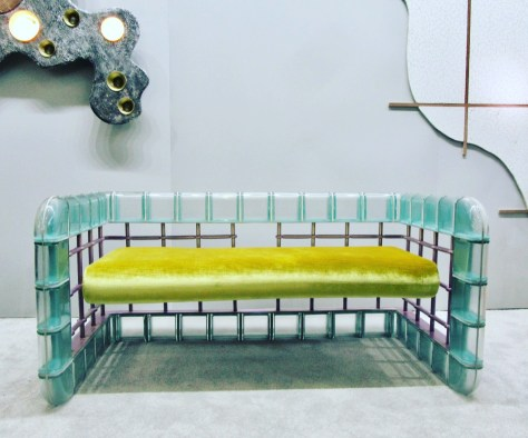 Glass Block Couch