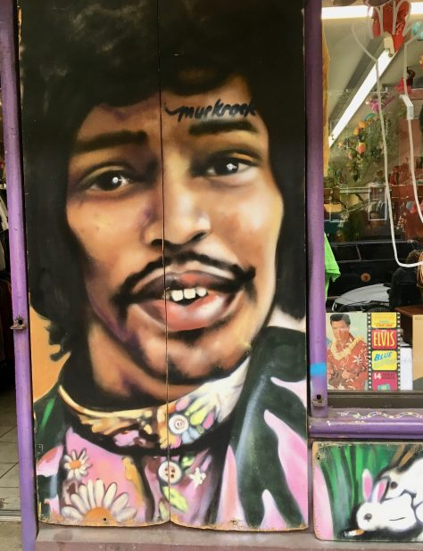 Jimi Hendrix Mural By Much Rock