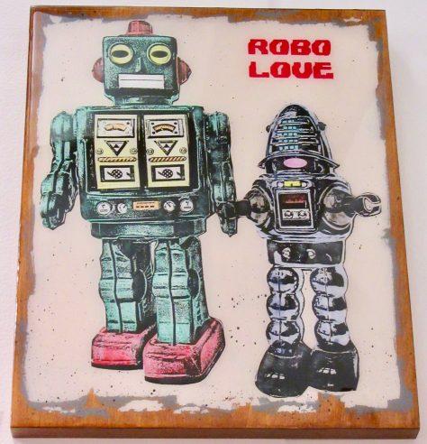 Green Robo Love By Carl Smith