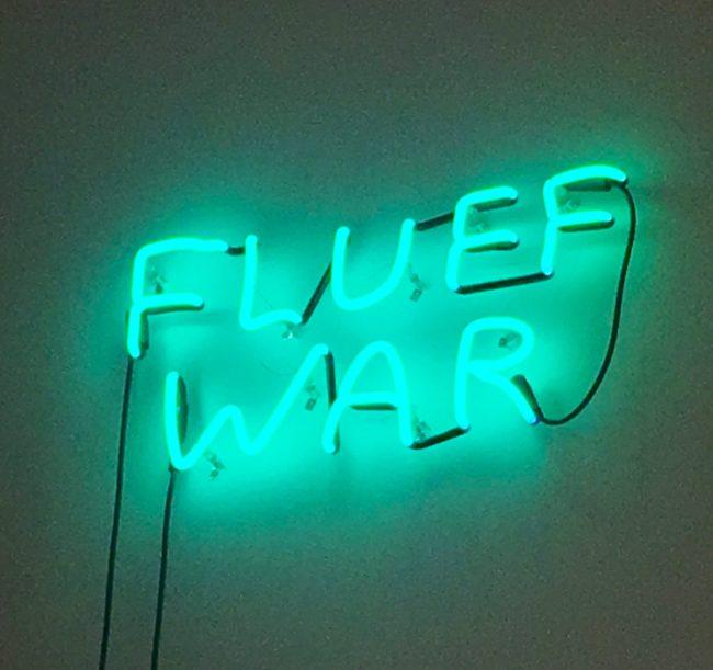 Fluff War Neon Sign