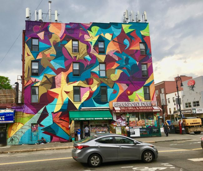 Mural at Greenpoint and Manhattan Avenues