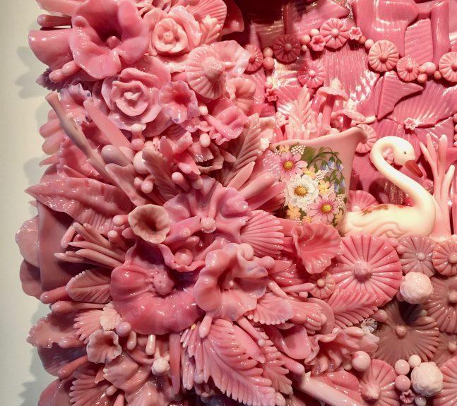 Pink Glass Sculpture Detail