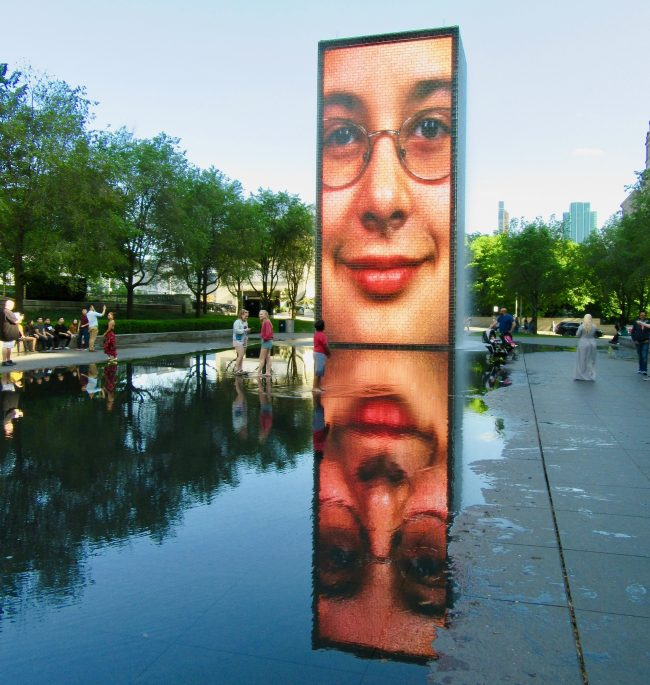 Crown Fountain Smiling 3