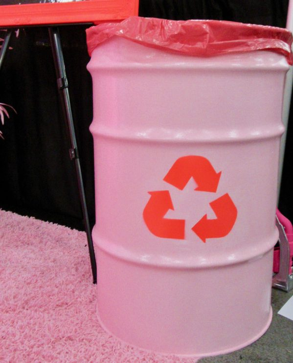 Pink Recycling Waste Bin