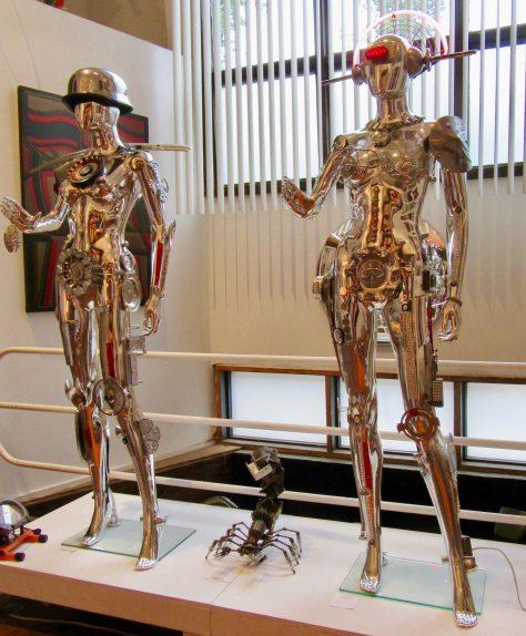 Chrome Robot Mannequins