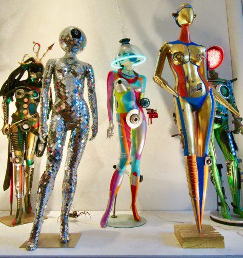 Five Robot Mannequins