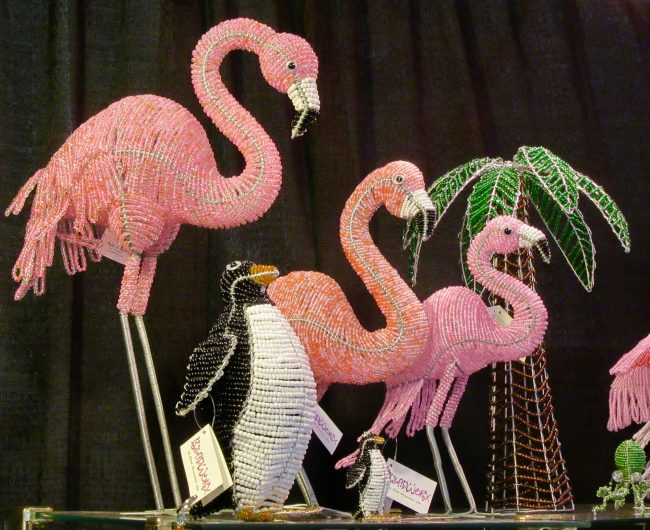 Beaded Flamingos