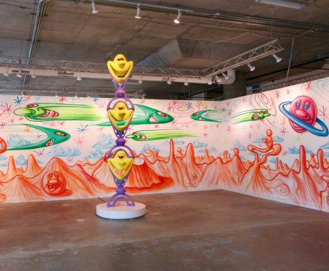 Kenny Scharf Sculpture and Mural
