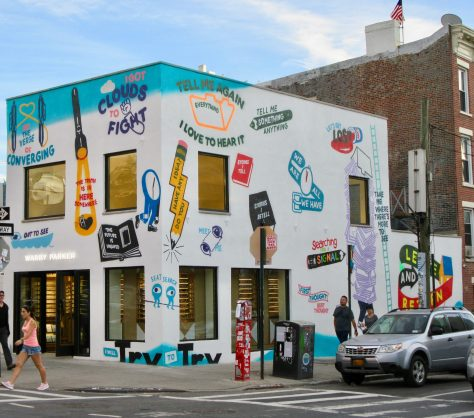Warby Parker Store Painted By Stephen Powers