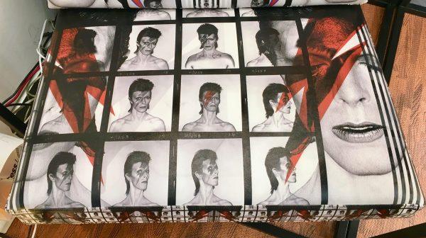 David Bowie Chair Seat Detail