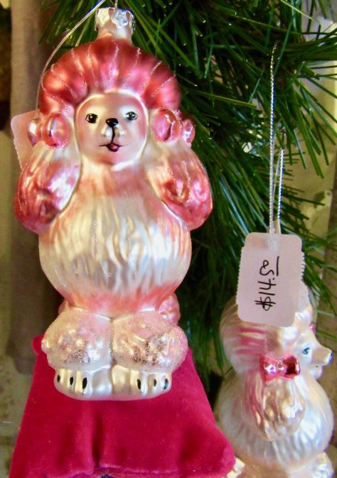 Pink Poodle Christmas Ornament