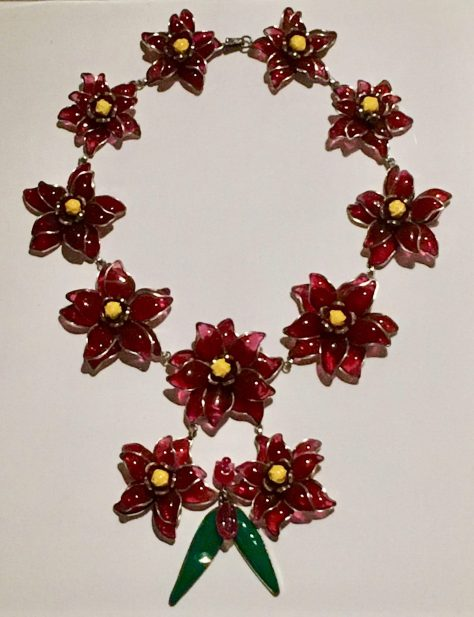 Chanel Glass Flower Necklace By Gail Worley