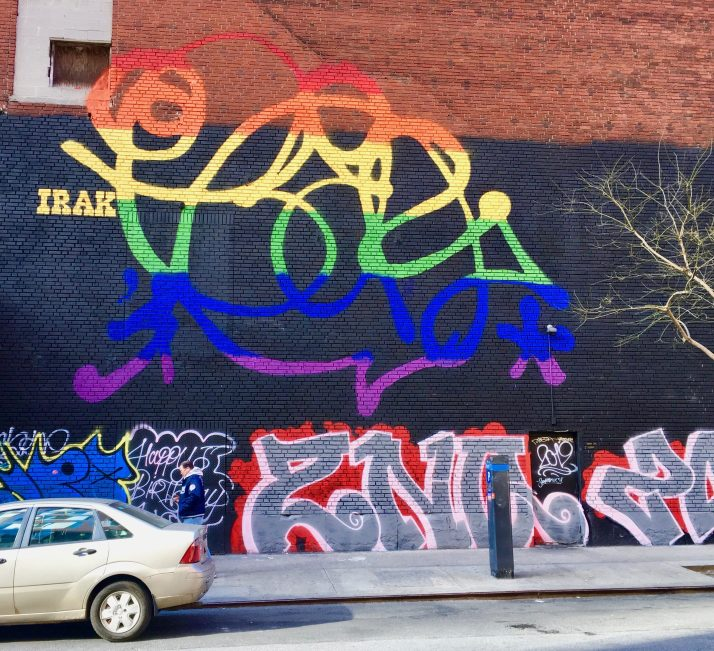 Earsnot of Irak Crew Pride Mural By Gail Worley