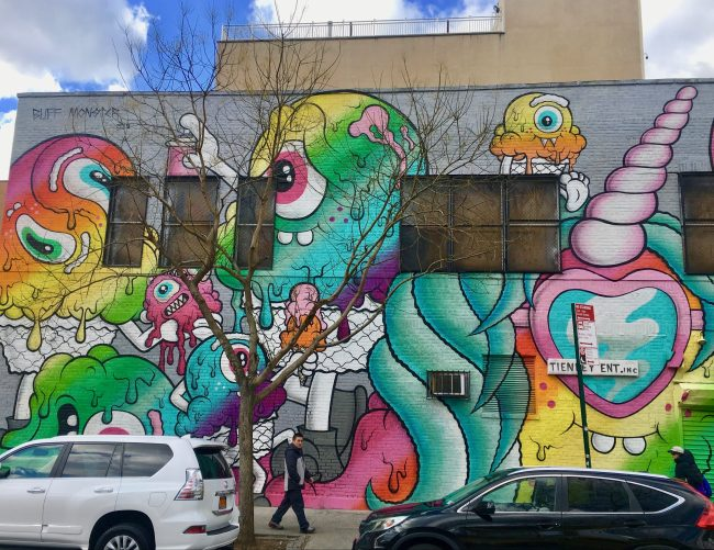 Buff Monster Mural on Christie Photo By Gail Worley