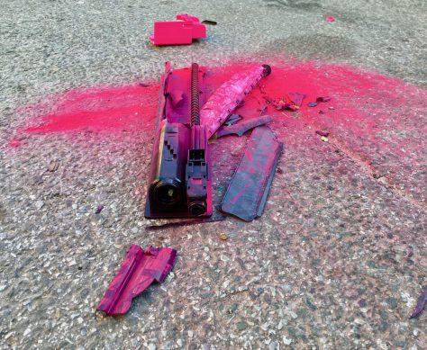 Crushed Pink Toner Cartridge By Gail Worley