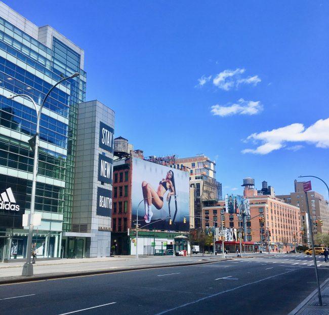 houston street with billboard photo by gail worley