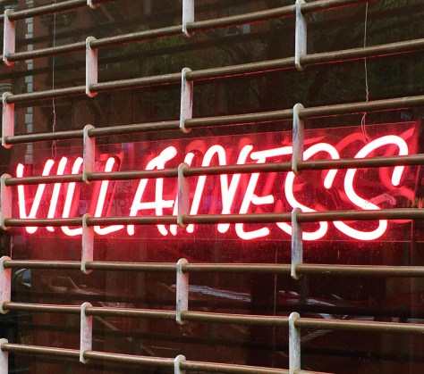 villainess neon sign photo by gail worley