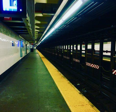 deserted L train platform photo by gail worley
