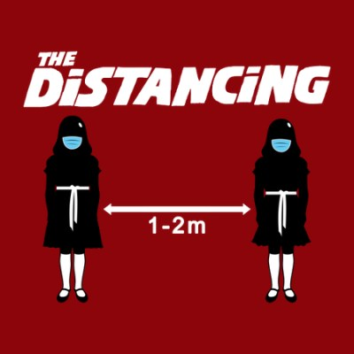 the distancing t shirt artwork detail
