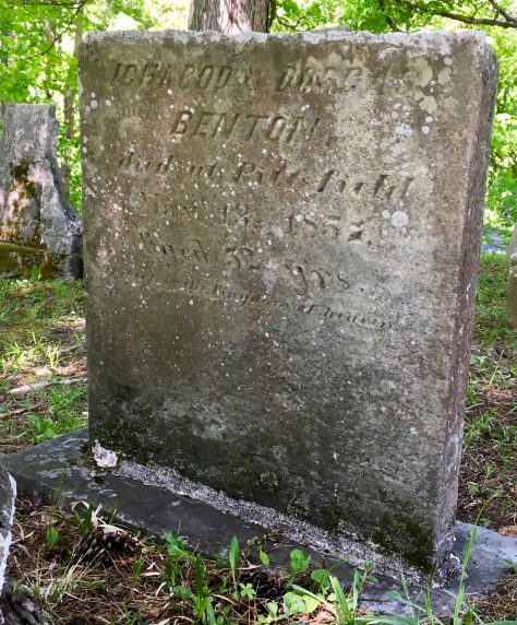 ichabod and dorcas benton headstone photo by gail worley