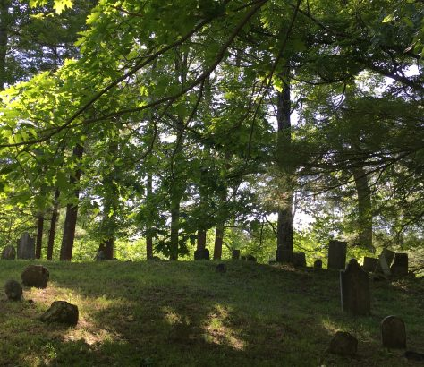 old cemetery seen from road photo by gail