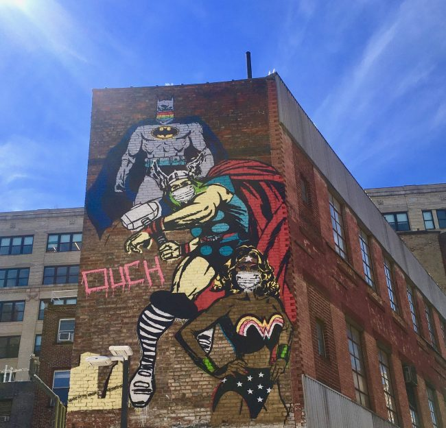 denis ouch justice league mural photo by gail worley