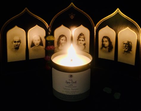 spa girl candle on alter photo by gail worley