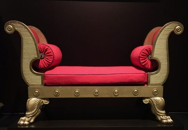gilded wooden bench by thomas hope photo by gail worley