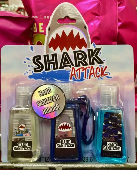 shark attack hand sanitizer photo by gail worley