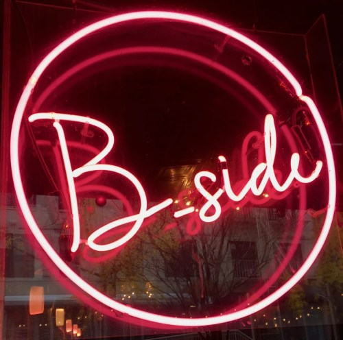 b side bar neon sign photo by gal worley