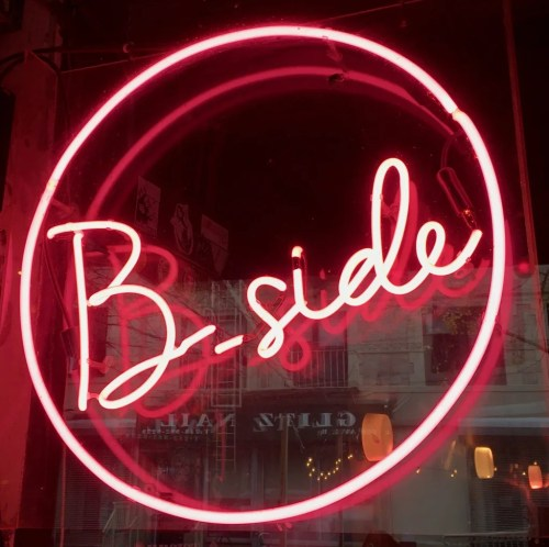b side bar neon sign photo by gail worley