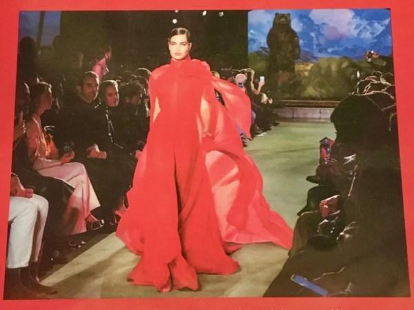 model in dress on runway