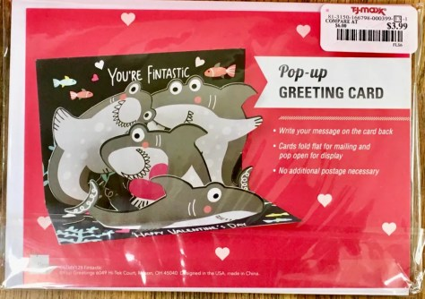 shark valentine card back photo by gail worley