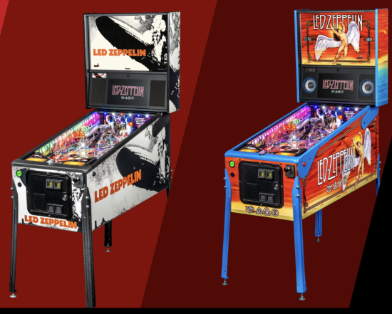 led zeppelin premium and limited pinball games